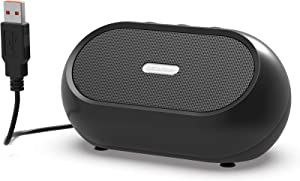 USB Computer Speaker, PC Speaker for Laptop & Desktop Computer, Portable Small Sound Bar with Higher Quality Sound, Louder Volume & Richer Bass – Upgraded with Volume Control