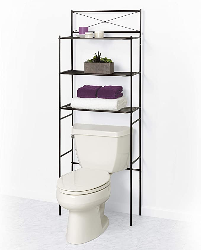 Zenna Home Over The Toilet Bathroom Spacesaver Oil Rubbed Bronze Home Kitchen
