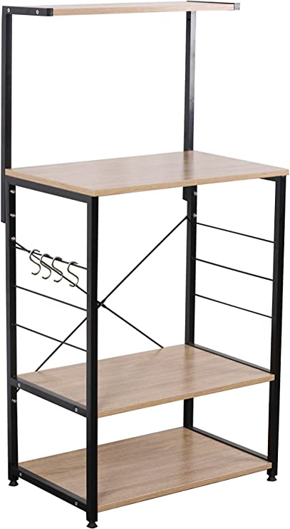 Uniware Professional Wooden Kitchen Shelf/Baker Rack 4 Tier Shelves  (23.62\
