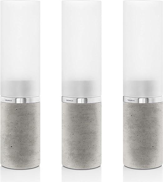 Set of 3 Faro Tealight Holders by Blomus Metallic