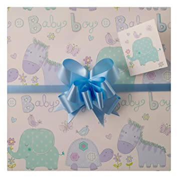 Baby Boy Gift Wrap Pack High Quality Gift Wrap Two Sheets Two