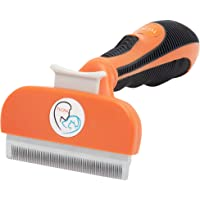 Pet Cat and Dog Grooming Brush Tool Effectively Reduce Shedding Up to 90% for Professional Deshedding and Dematting No…