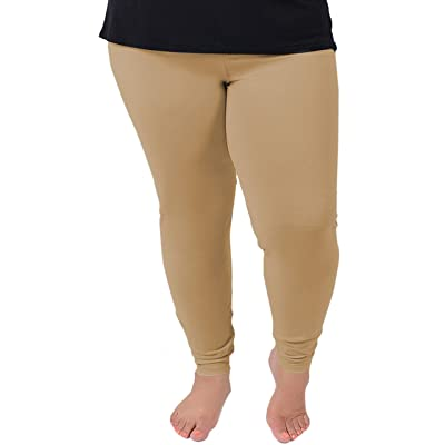 Stretch Is Comfort Women's Cotton Plus Size Leggings at Women's Clothing store