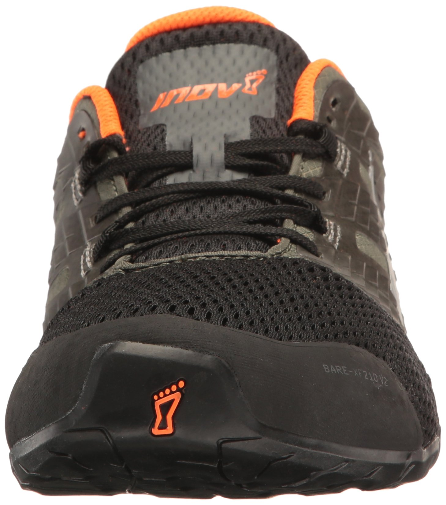Inov-8 Men's Bare-XF 210 v2 (M) Cross Trainer Grey/Black/Orange 9 D US by Inov-8 (Image #4)