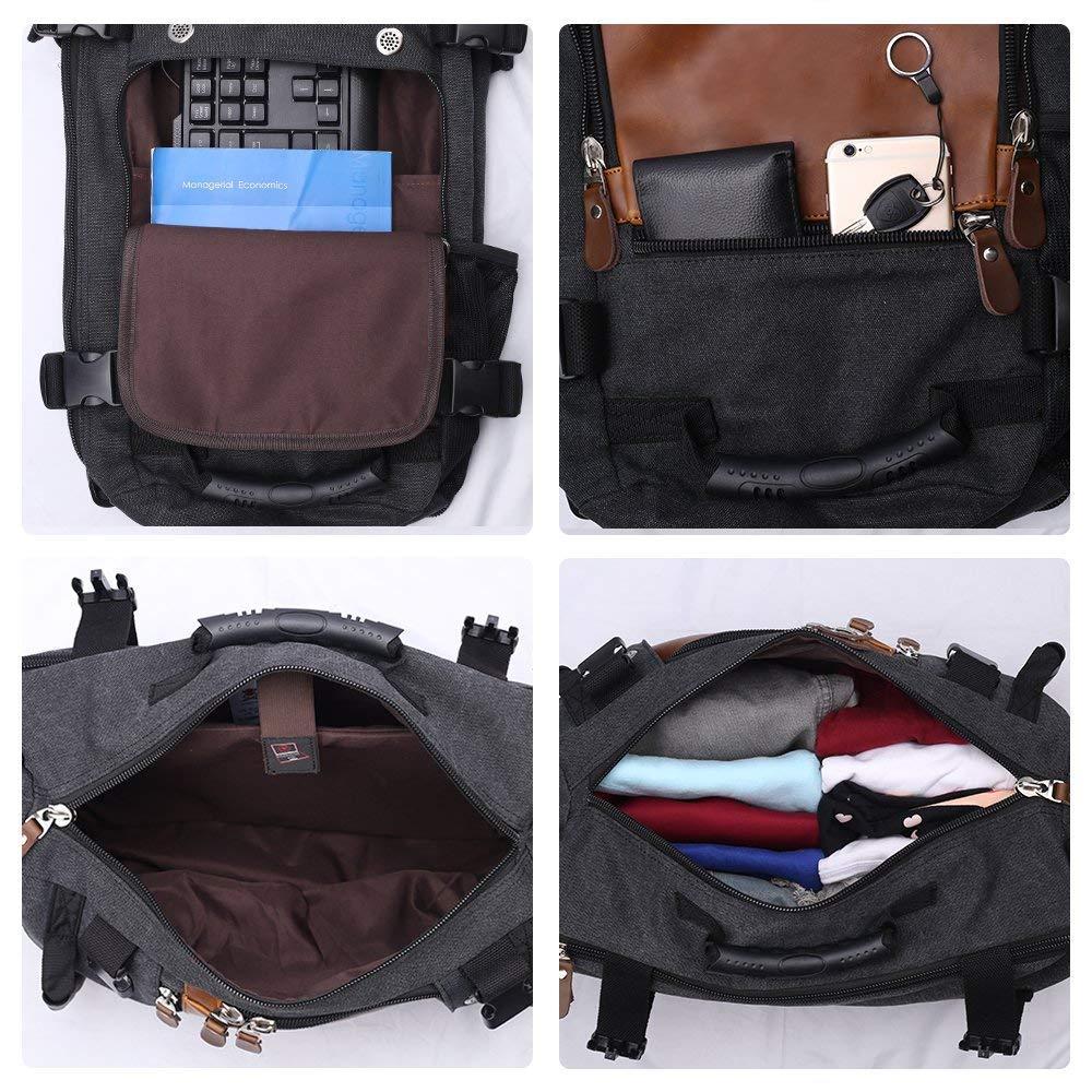 Canvas Daypack Camping Bag Hiking Backpacks Outdoor Sports Shoulder Rucksack Travel Backpack Duffel Bag All-in-1