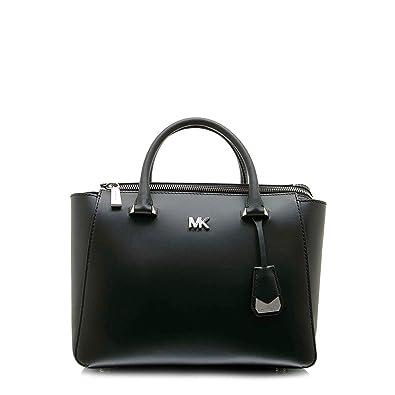 efd6745f15da Michael Kors Nolita Medium Satchel - Black: Handbags: Amazon.com