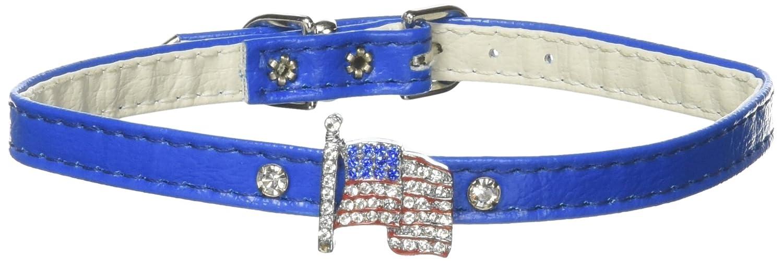 Dog   Cat   Pet Charms 1 Flag Collar bluee 14