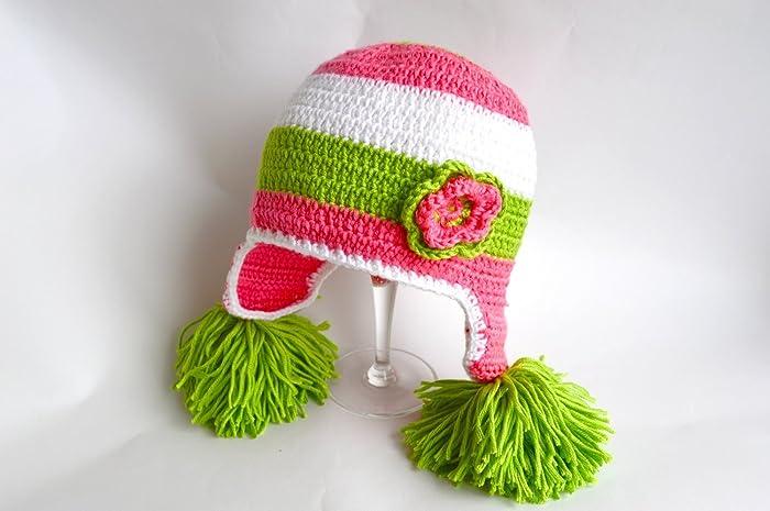 81c21ea84a2 Amazon.com  Crochet Baby Hat Kids hat Newborn Baby Hat Crochet Girl ...