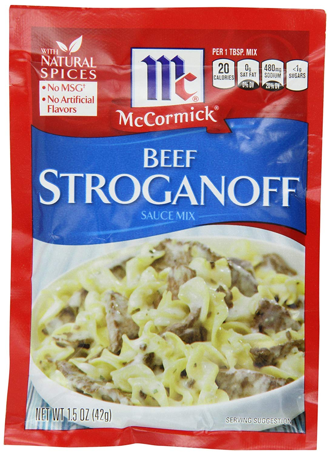McCormick Beef Stroganoff Sauce Mix (1.5 oz Packets) 4 Pack