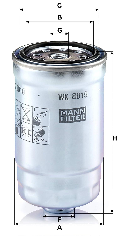 Para autom/óviles MANN-FILTER Original Filtro de Combustible WK 8019