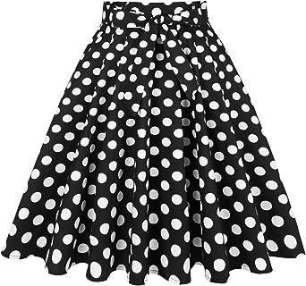 Mintilimit - Falda plisada vintage de los años 50, estilo retro ...