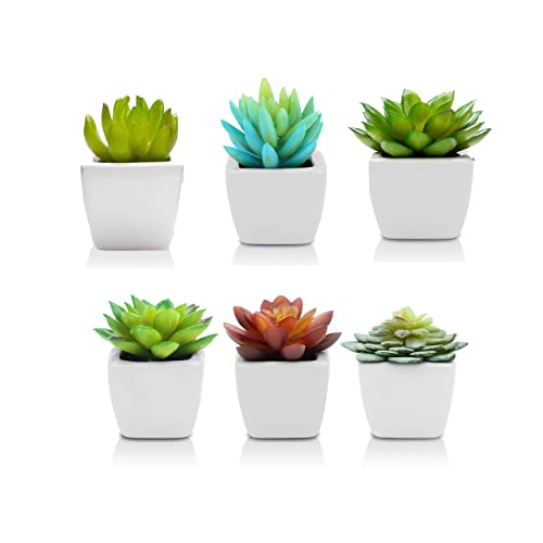 Pack Of 6   Mini Fake Succulents Artificial Plants For Home Decor  Fake  Succulent Plants