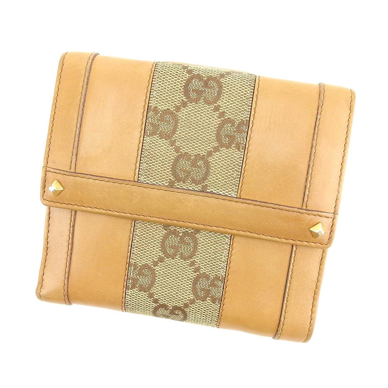 [グッチ] Gucci Wホック財布 二つ折り 財布 レディース メンズ 可 GGキャンバス 中古 T7617 B07D5CMT6M