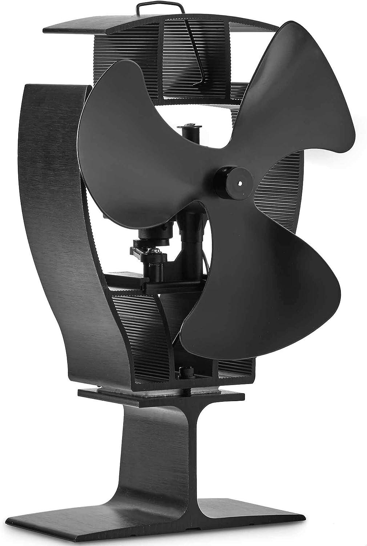 VonHaus Ventilador de Estufa de 3 Aspas Oscilantes - Accionado Por Calor Para Quemadores De Leña / Troncos: Rentable Circula Aire Caliente