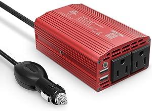 BESTEK 300W Power Inverter DC 12V to 110V AC Car Adapter with Vertical Cube Mountable Power Strip