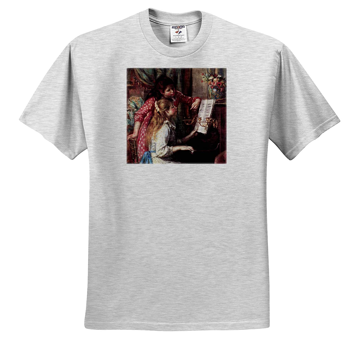 Girls at The Piano Masterpieces 3dRose VintageChest Renoir T-Shirts
