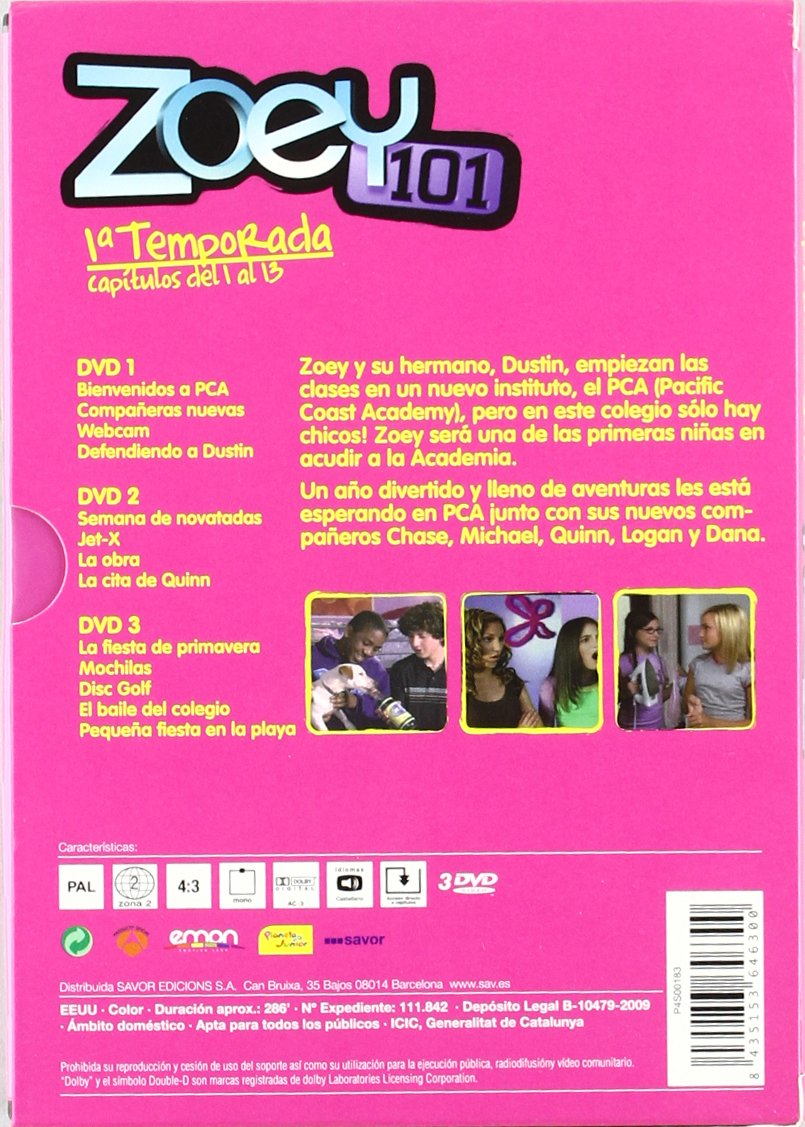 Amazon.com: ZOEY 101 1a Temporada - Import - Region 2 - PAL - language Castellano: Movies & TV