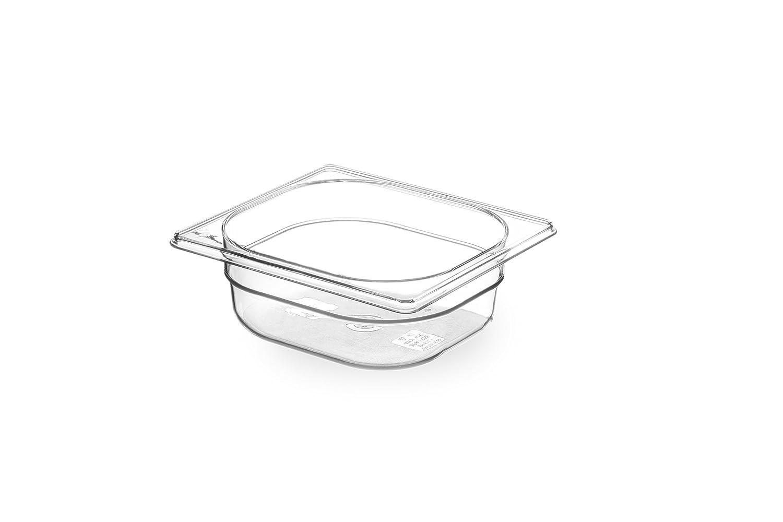 HENDI Recipiente Gastronorm 1//6 H 1 L PC White 65 mm 176x162x Blanco