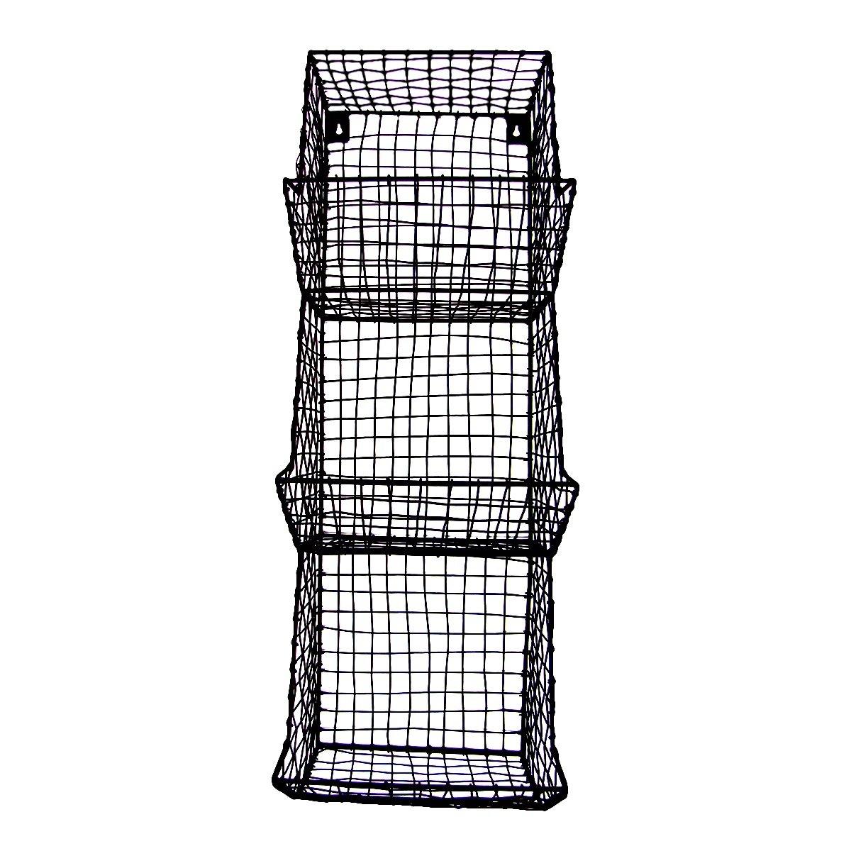 Amazon.com: Wire Wall 3 Storage Bin Fruit/Vegetable Basket Primitive ...