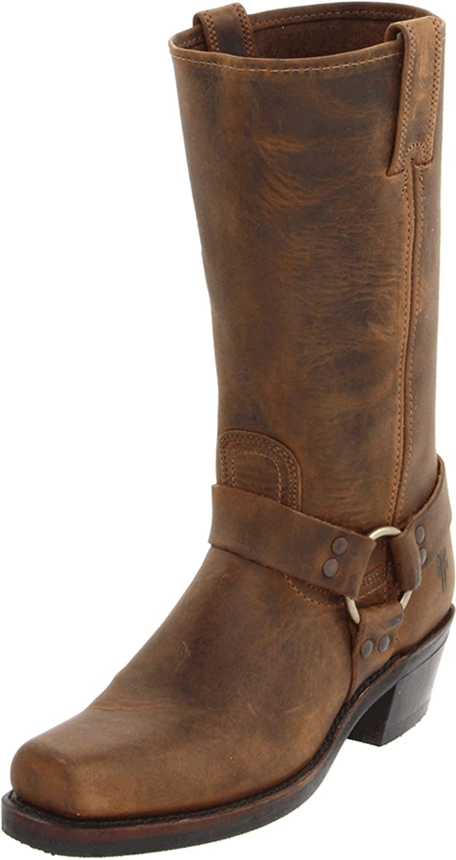 FRYE Women's Harness 12R Boot B000IV5EIE 11.5 B(M) US|Tan Crazy Horse