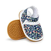 CoKate Baby Toddler Boy Girls Bow Knot Sandals First Walker Shoes (11cm 0~6Months, Classic Floral)