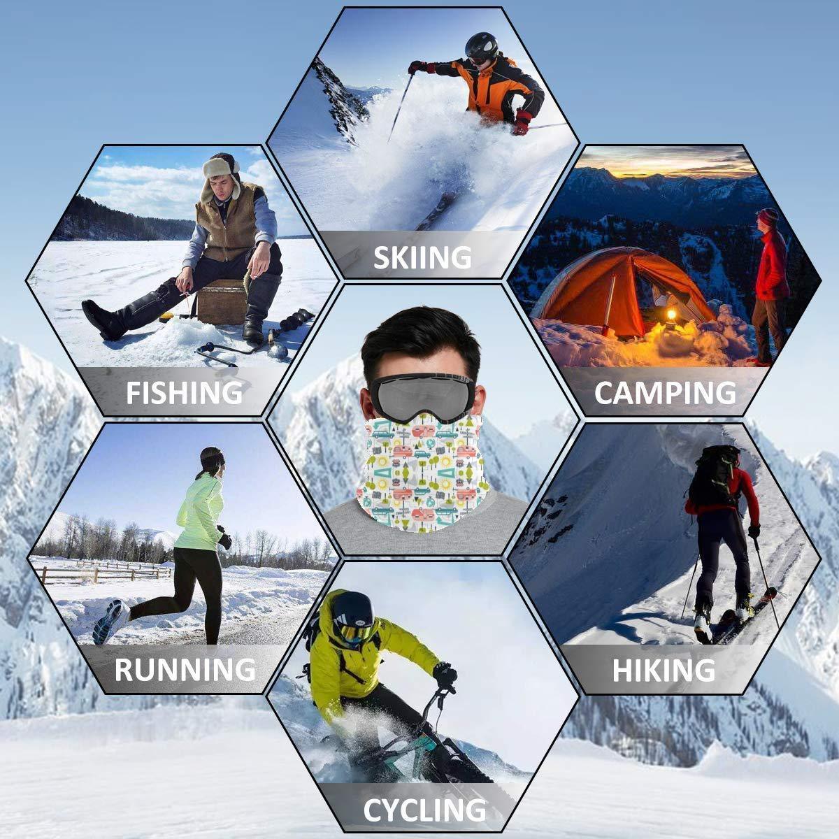 Retro Summer Camping Neck Warmer - Scarf Neck Gaiter Tube For Men ...