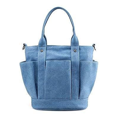 PILER Women Canvas Shoulder bags Casual Vintage Hobo Handbags Top Handle  Tote Crossbody Shopping Bags ( eeb4601703