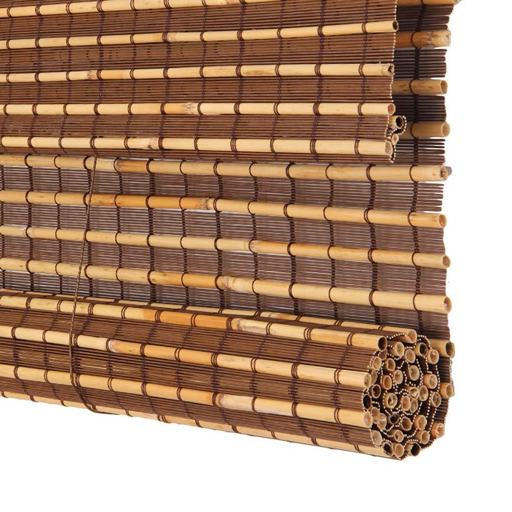 CAIJUN Tenda di bambù Roll Up Dimensione Personalizzata Parasole con Valance Resistente all'Acqua Tagliato Fuori Tenda da Balcone 2 Stili (colore   A, Dimensioni   50x150cm)