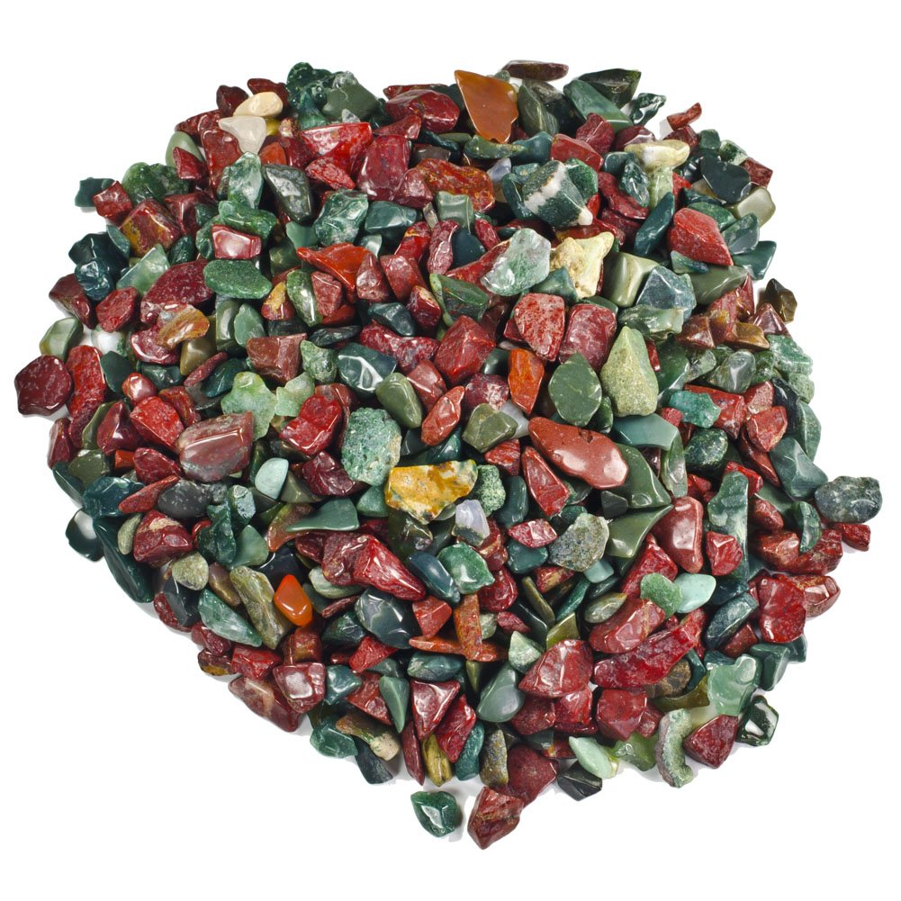 Hypnotic Gems Materials: 18 lbs Fancy Jasper Tumbled Stones from India - 1/4'' Average Size - Bulk Natural Polished Gemstone Supplies for Wicca, Reiki, and Energy Crystal Healing