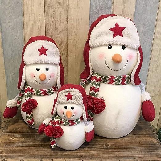 Admir Familia De 3 Muñeco De Nieve Navidad Ornamento, Mesa ...