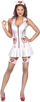 Vegaoo - Disfraz de Enfermera Sexy Vestido sin Manga para Mujer ...