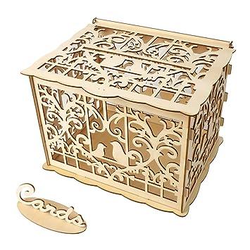 Amazon Com Exteren Wedding Card Box Diy Rustic Hollow Wedding Money