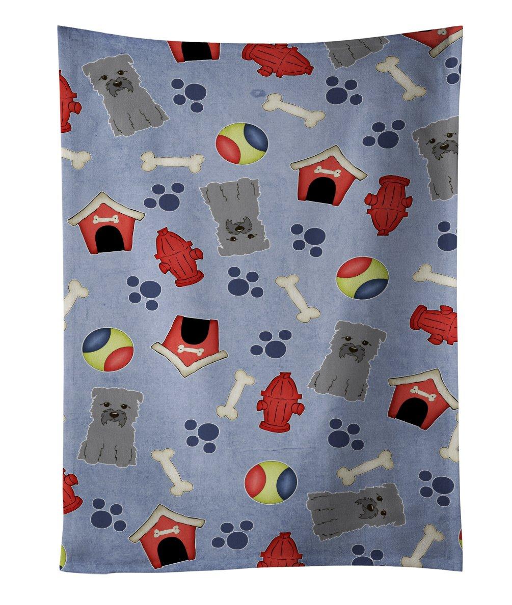 25 x 15 Multicolor Carolines Treasures BB2665KTWL Miniature Schanuzer Black Silver Kitchen Towel