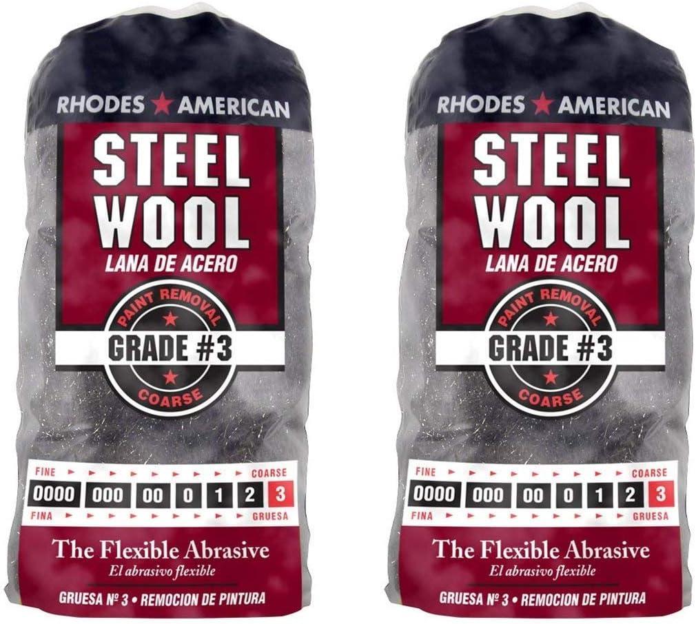 Rhodes American Coarse Grade #3 Twо Pаck 12 pad Steel Wool Paint Removal