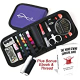 Craftster's Mini Sewing Kit with Sewing Survival Ebook, 78 Emergency Accessories