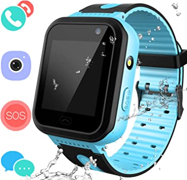 Jesam Smart Watches Phone for Boys Girls - Kids Water-Resistant Wrist Watch with Call SOS Voice Chat Camera Flashlight Alarm Sports Bands Gifts for ...
