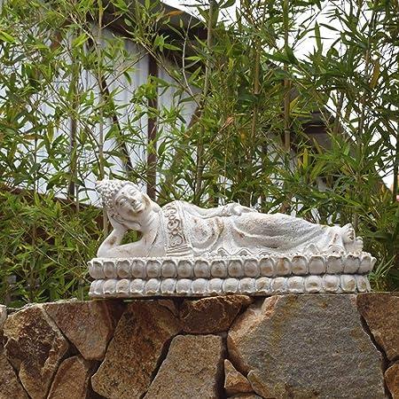 Sala De Estar Porche Corredor Óxido De Magnesio Estatua De Buda Decoración Jardín Zen Chino Retro Figuritas de Arte de jardín (Color : White, Size : 65x26x30cm): Amazon.es: Hogar