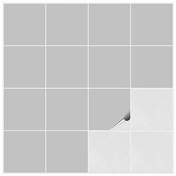 FoLIESEN Fliesenaufkleber Für Bad Und Küche X Cm Hellgrau - Matte fliesen glänzend lackieren
