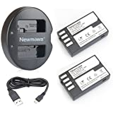 Newmowa D-Li109 Replacement Battery (2-Pack) and Dual USB Charger for Pentax D-LI109 and Pentax K-r, K-30, K-50, K-500