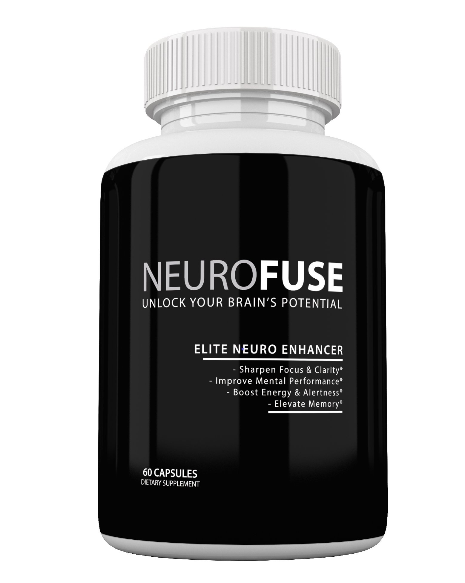 Neurofuse Powerful Focus & Memory Nootropic Pill - Formula Helps Support Memory, Cognitive Function, Focus & Clarity –Reduce Brain Fog & Fatigue