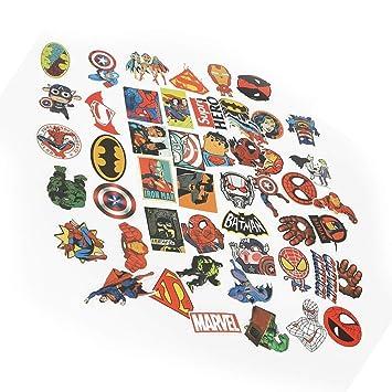 50 pegatinas de vinilo impermeables Bondpaw Marvel Super Heros pegatinas para ordenador portátil casco de coche equipaje monopatín teclado de ordenador ...