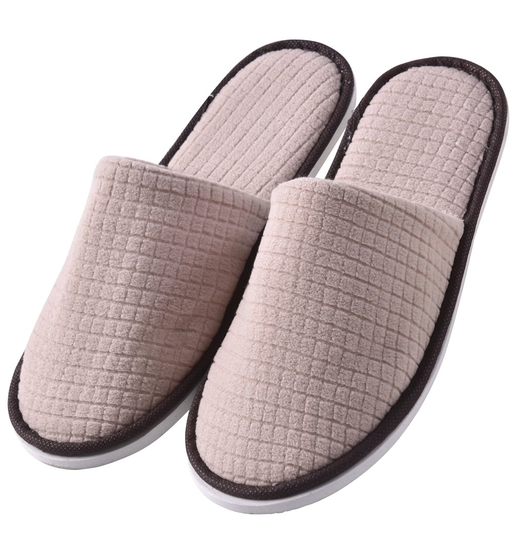 Eucoz 6 Pairs Guests Slippers,Closed Toe,Portable and Disposable,Perfect for Guests/Visitors in Home,Hotel,Vocation,Travel,