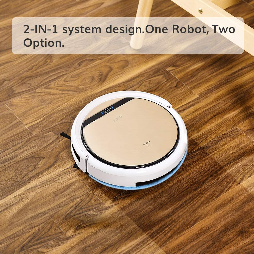 ILIFE V5s Pro, 2-in-1 Mopping,Robot Vacuum, Slim, Automatic Self-Charging Robotic Vacuum, Daily Schedule, Ideal for Pet Hair, Hard Floor and Low Pile Carpet.: Home & Kitchen