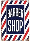 Barber Shop Rayures–plaque murale en métal Art inspirants