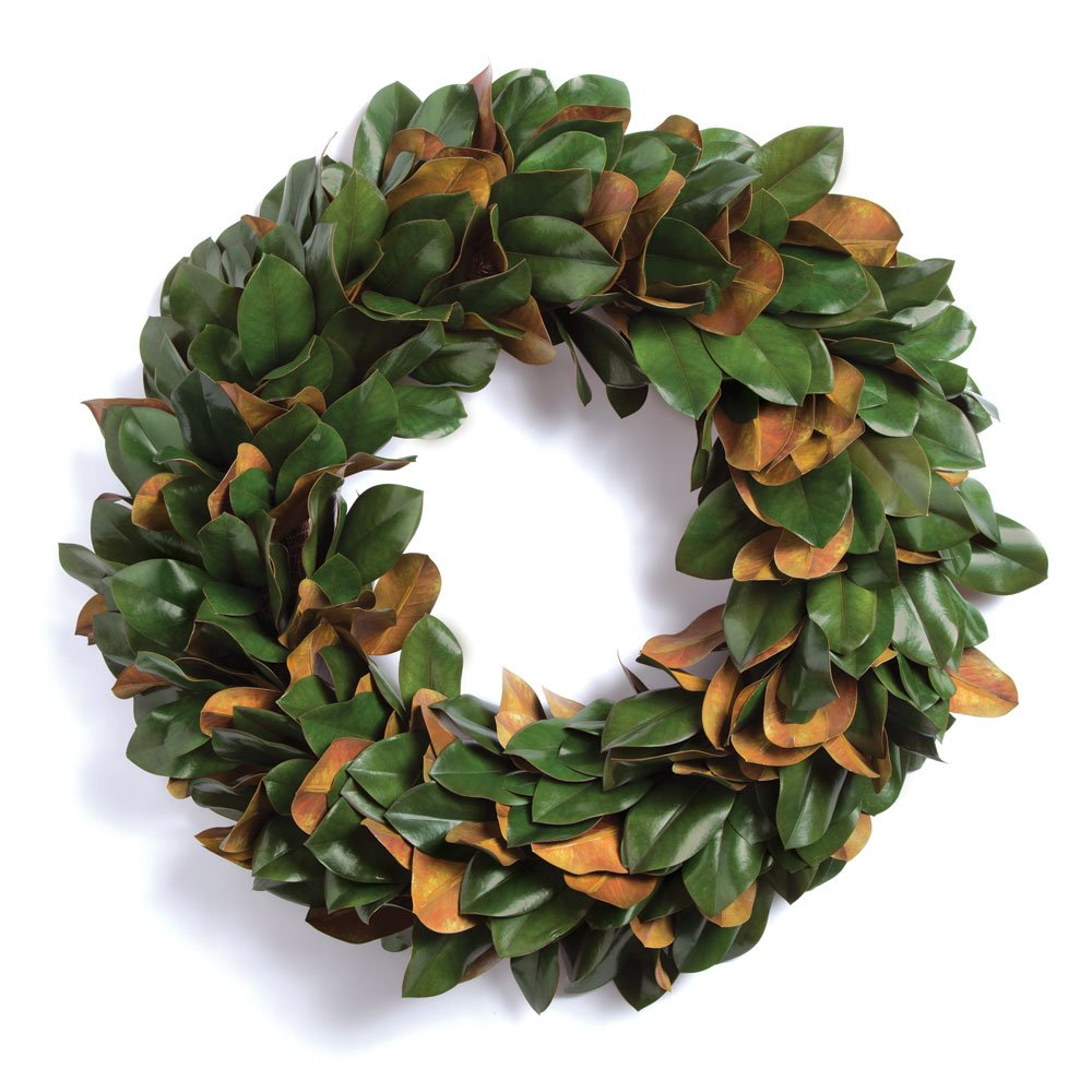 Porch & Petal Grand Magnolia Leaf Wreath 24''