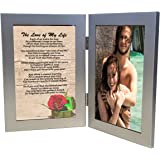 Love of My Life Gift, Sentimental Soulmate Poem 4x6 Silver Double Picture Frame for Birthday, Christmas, Anniversary Gifts, Wedding, Valentines Present - Add Photo by Words Matter Gifts