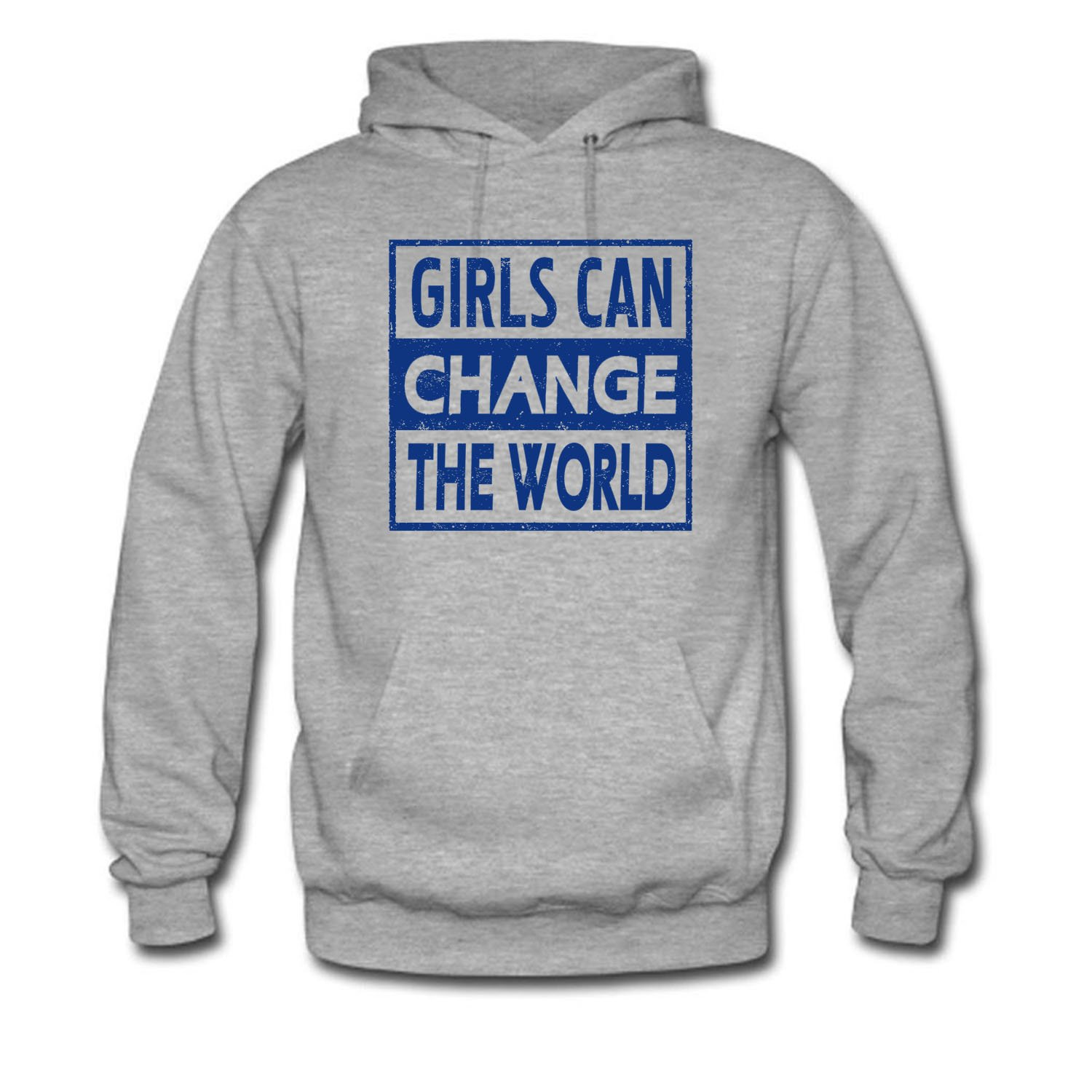 171194cc Amazon.com: ZWZHI Women's Girls can Change the World Long Sleeve Hoodie:  Clothing