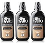 Hello Oral Care Activated Charcoal Extra Freshening Fluoride Free and Alcohol Free Mouthwash with Natural Fresh Mint and…