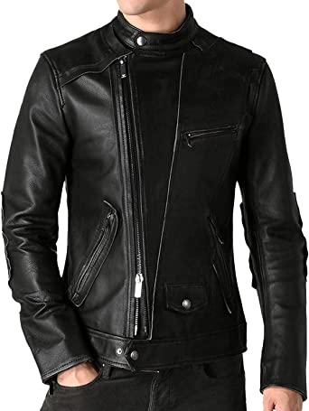 1801030 Laverapelle Mens Genuine Lambskin Leather Jacket Black, Double Rider Jacket