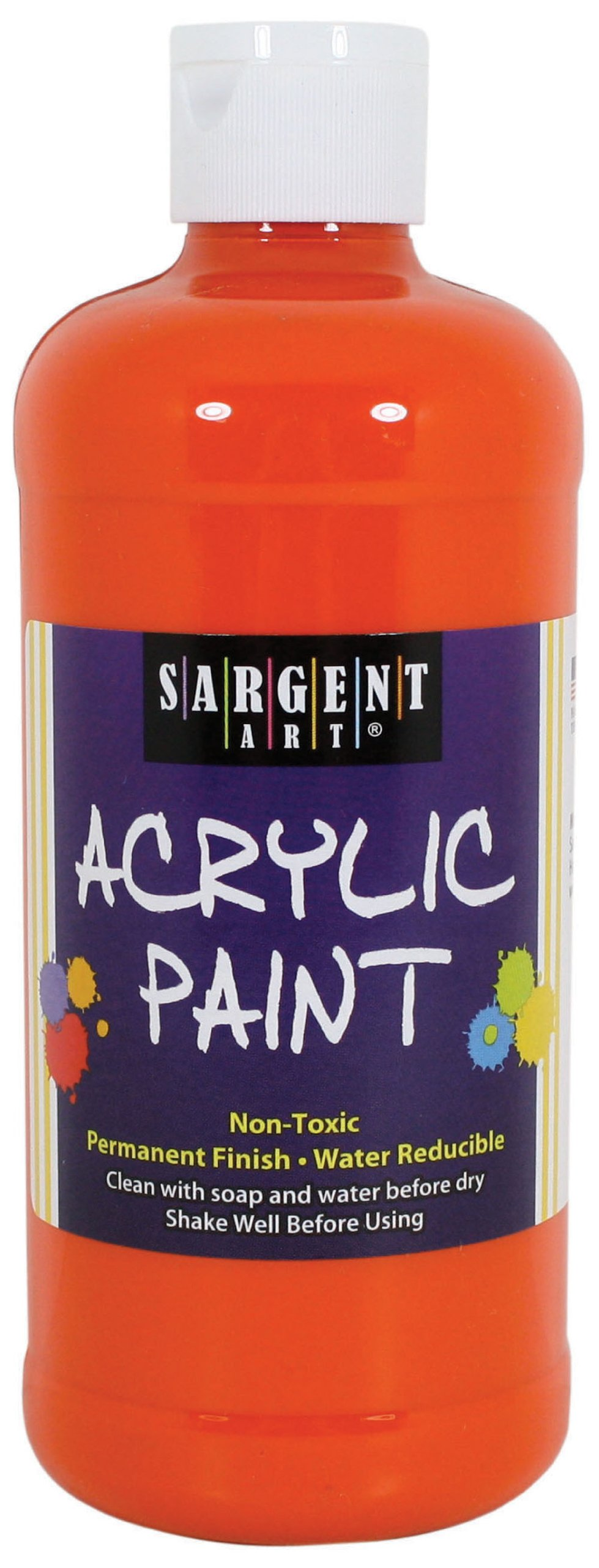 Sargent Art 24-2431 16-Ounce Acrylic Paint, Vermillion